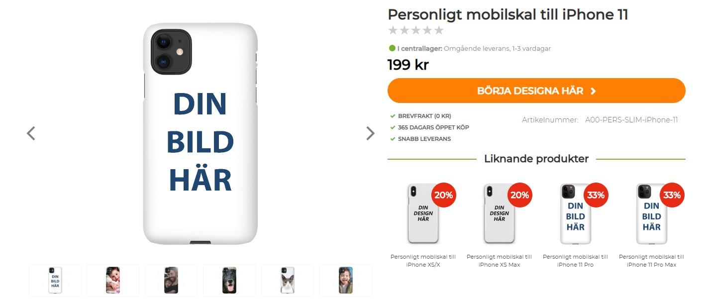 The Mobile store - egen design av mobilskal